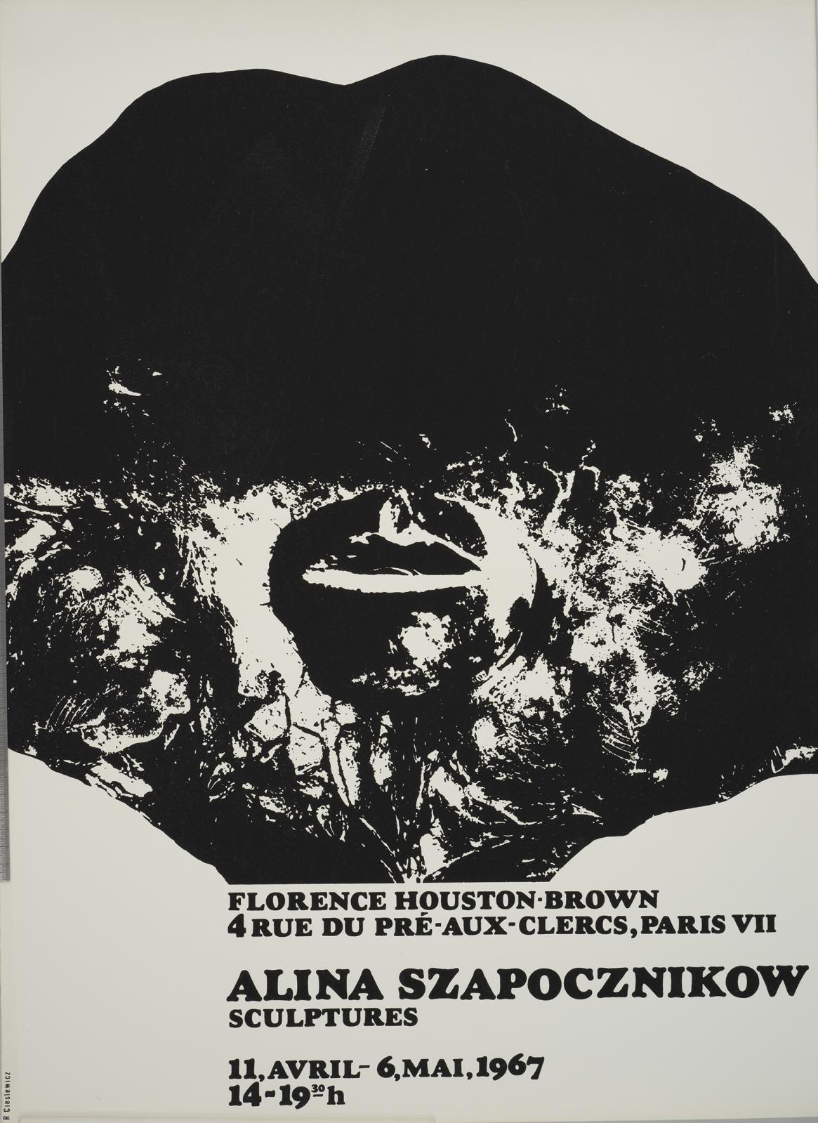 Affiche de l'exposition « Alina Szapocznikow »